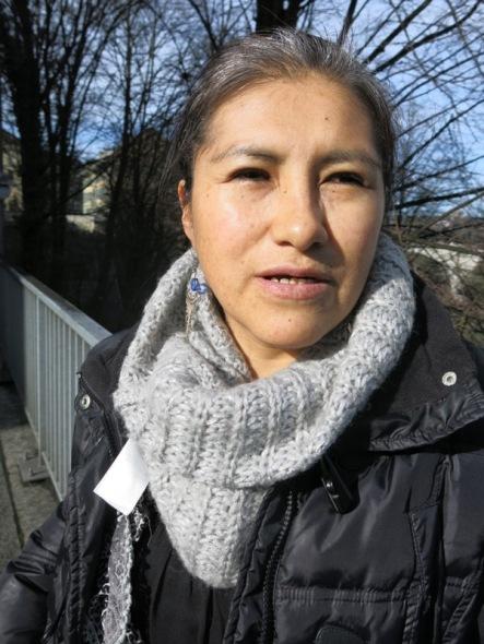 Silvia Mariño activista de los Sin Papeles en Suiza  Foto  Sergio Ferrari