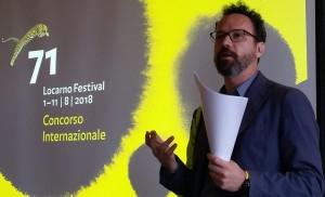 Locarno 71 Carlo Chatrian director del Festival de Locarno foto Sergio Ferrari