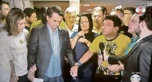 Bolsonaro y pastor
